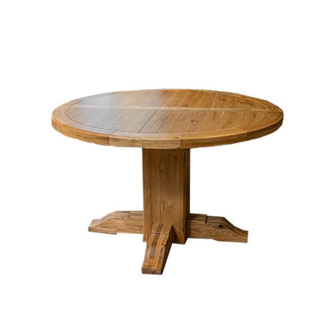 Oak Round Extension Table image 6