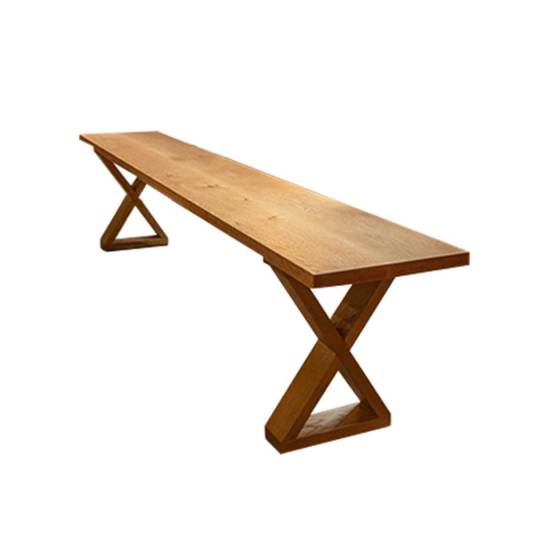 American Oak X-Leg Bench Seat NZ Made image 0