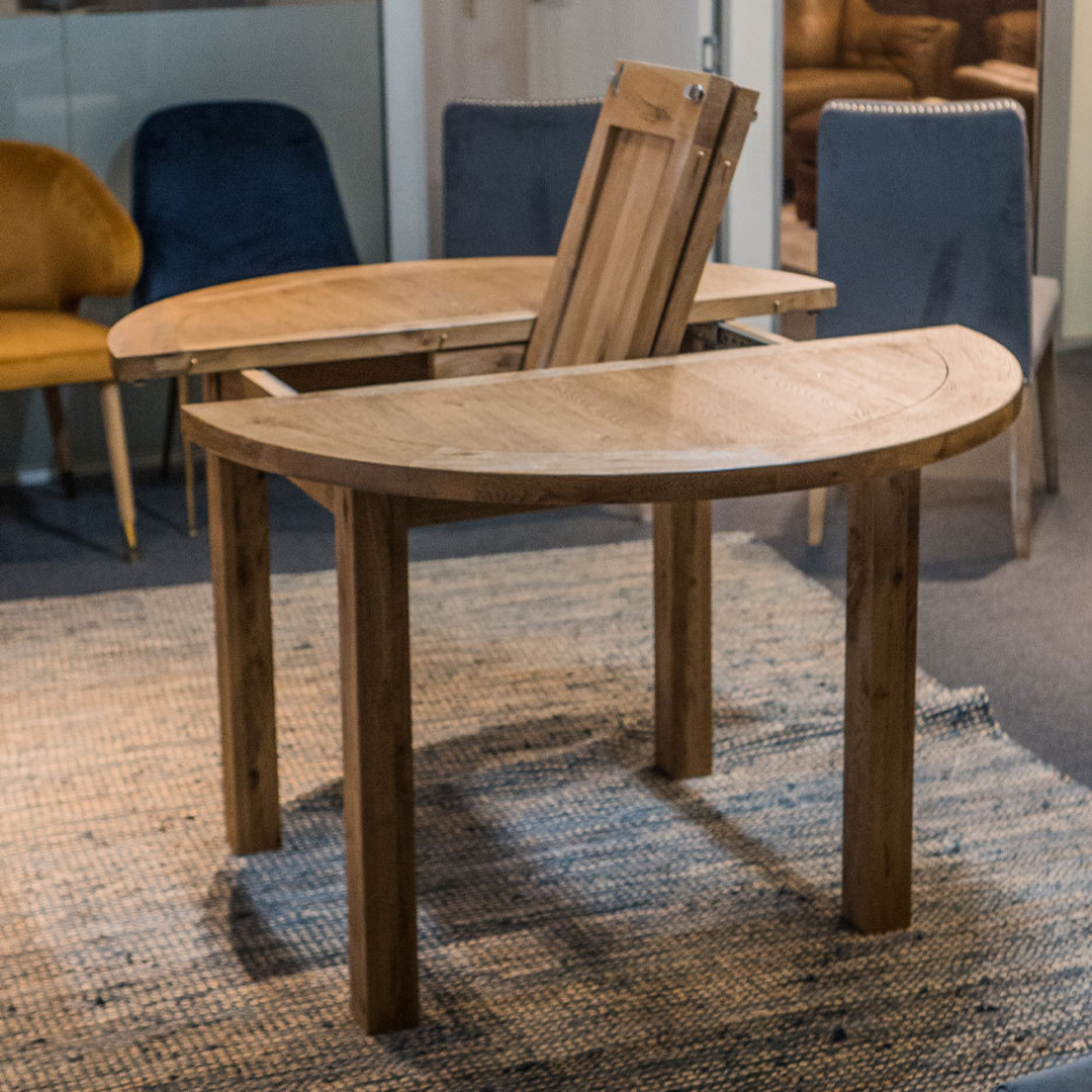 Oak Round Extension Dining Table 106cm image 4