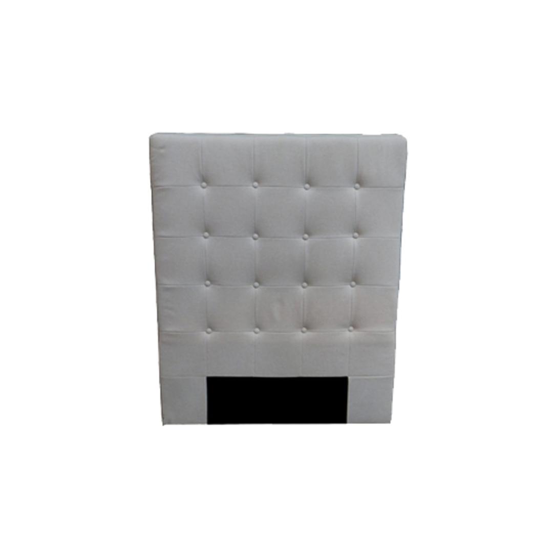Charly Bedhead King Single Cream Fabric image 0