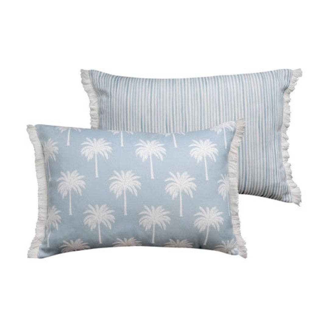 Tropic Light Blue Reversible Lumbar Cushion image 0