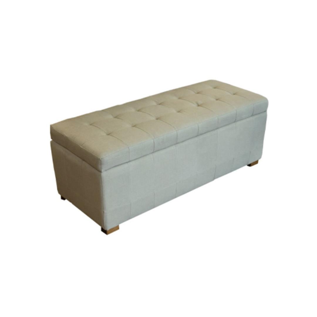 Cuba Linen Ottoman Blanket Box image 0