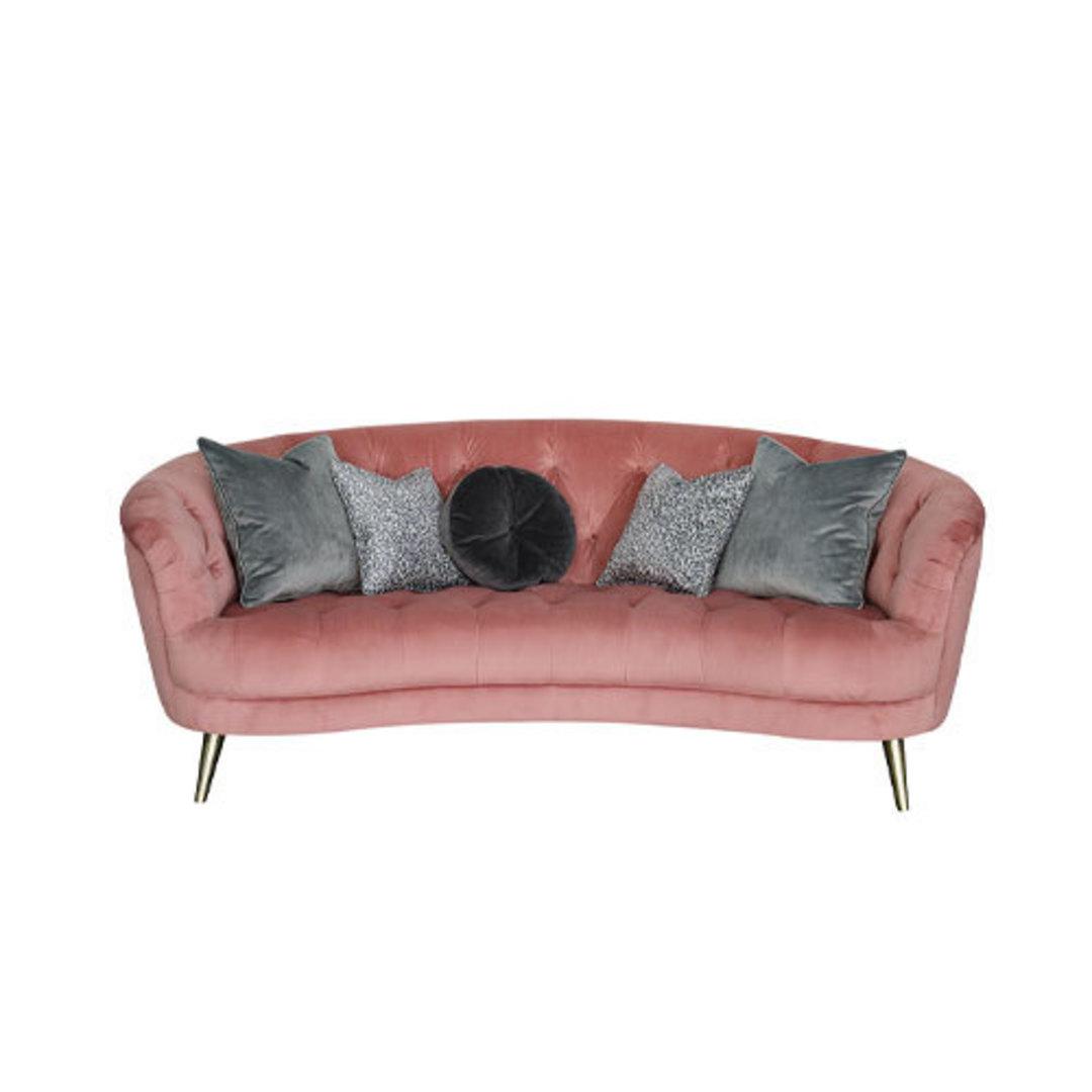 Jean Maxi Sofa Plush Rose image 0