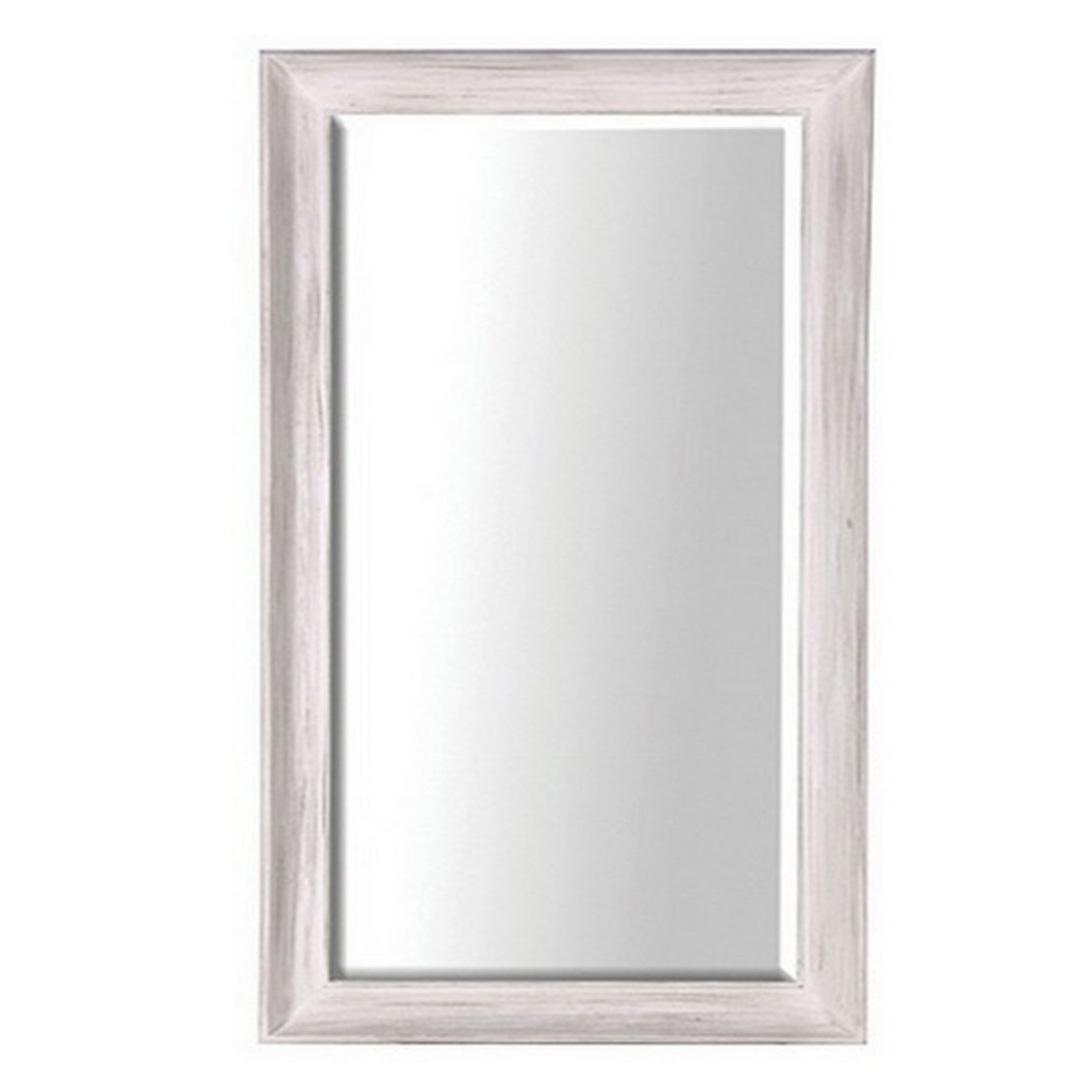 Large White Deep Frame Mirror image 0