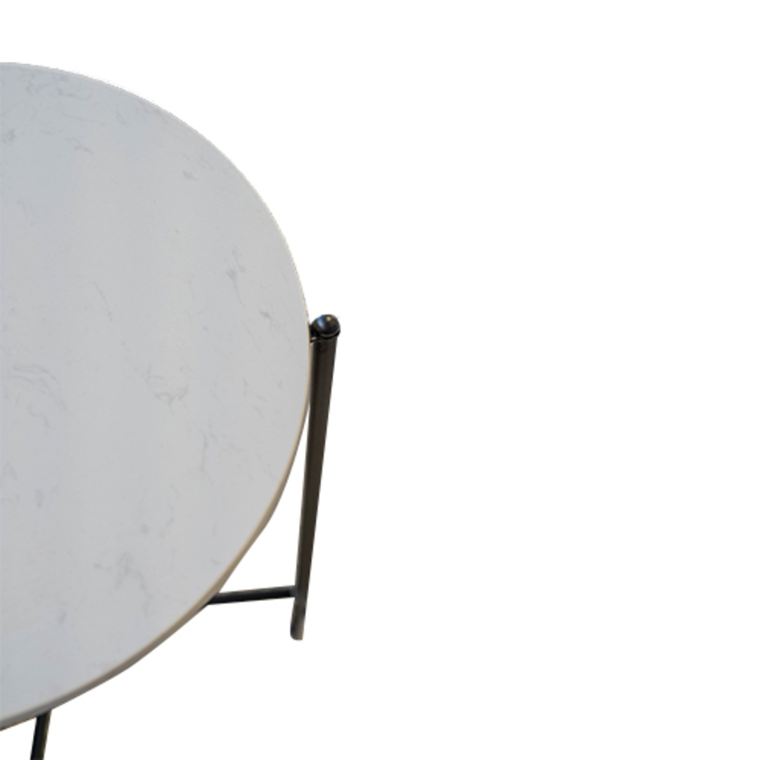 Crete Side Table White Marble image 2