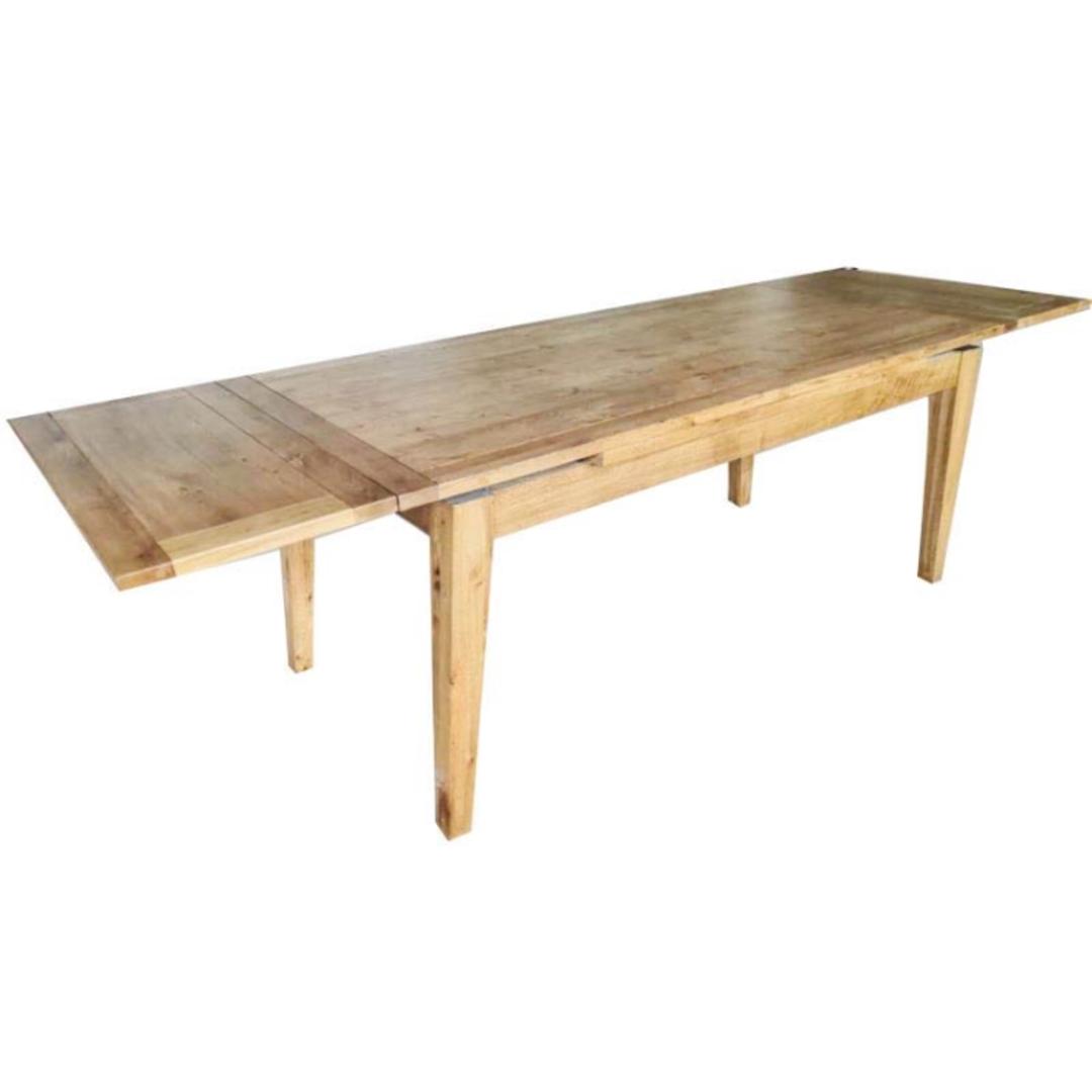 Oak Double End Extension Table 1.8-2.6M image 1