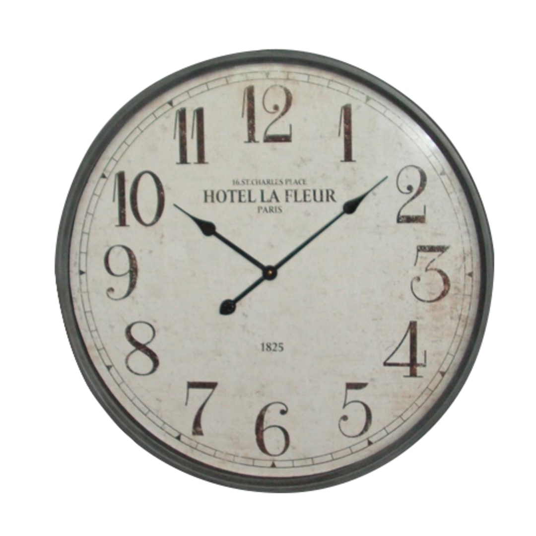 La Fleur Gunmetal Clock image 0