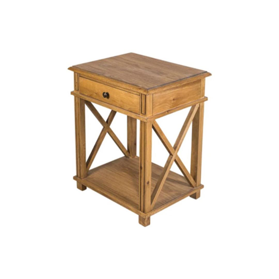 Heritage Oak Bedside Table image 0