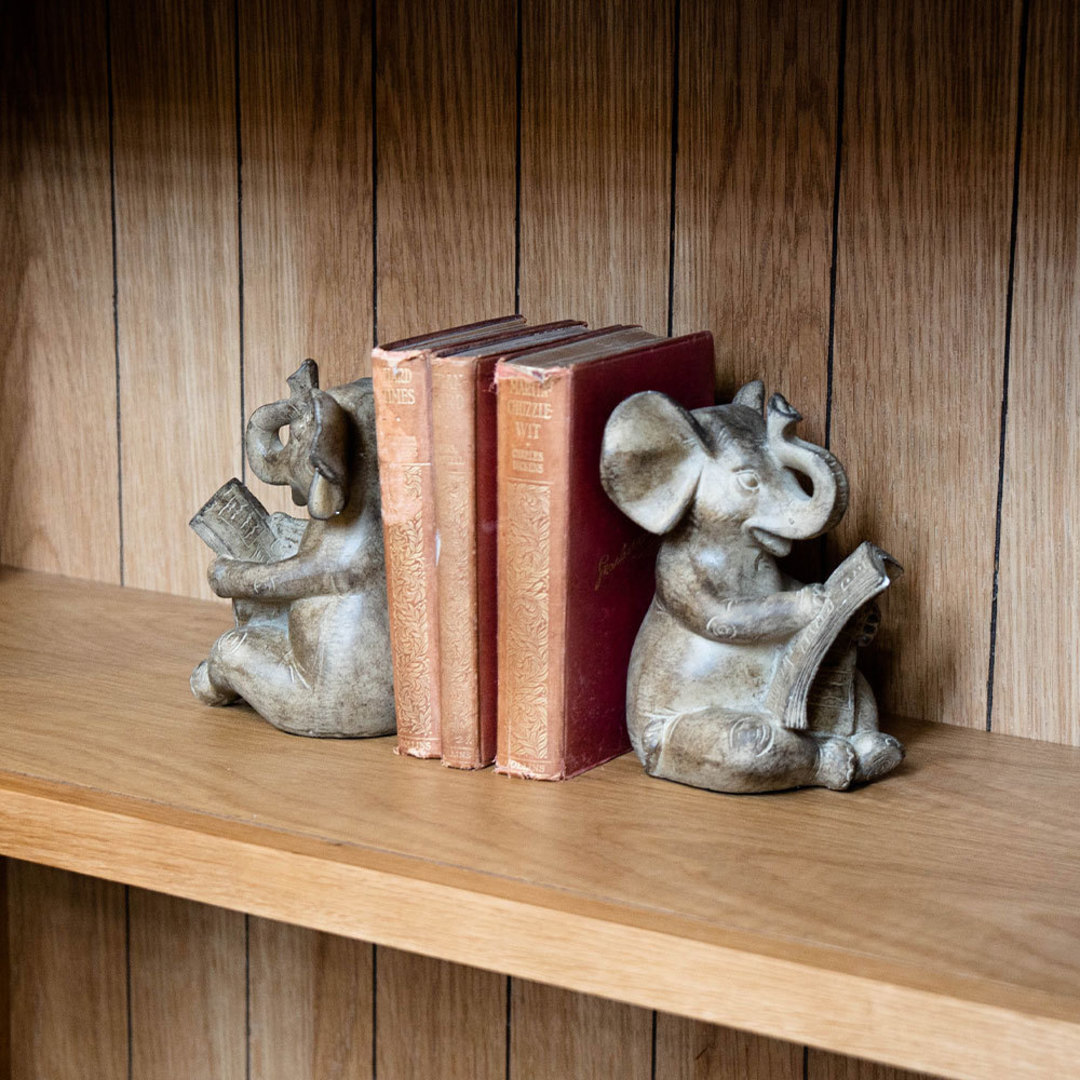 Elephant Bookends Set of 2 image 1
