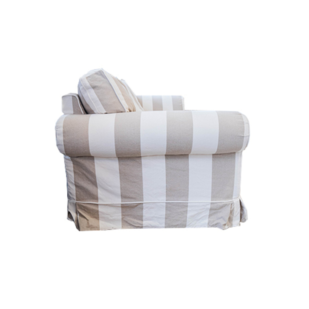 Isla Feather Filled 3 Seater Sofa Striped Natural image 3