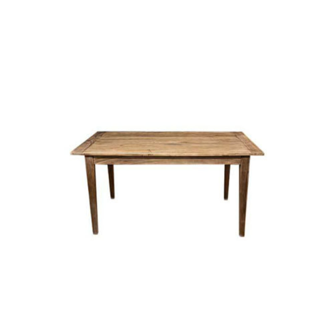 French Dining Table Reclaimed Elm 1.5M image 0