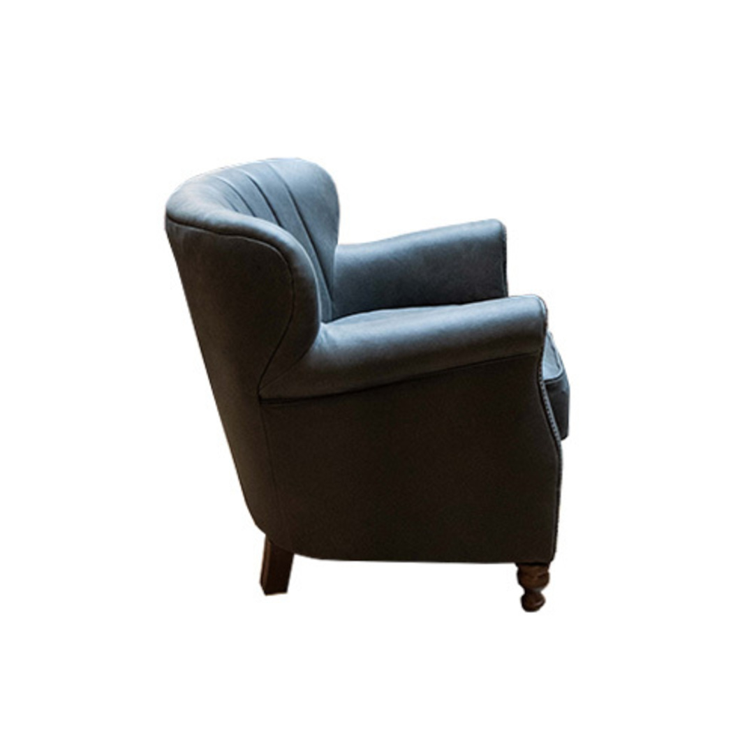 Percy Chair Plush Velvet Charcoal image 2