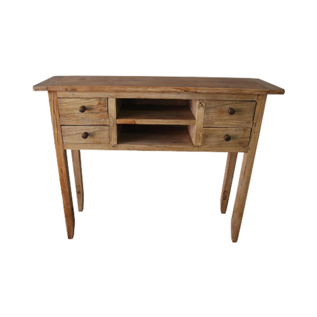Recycled Elm 4 Drawer Dresser image 0
