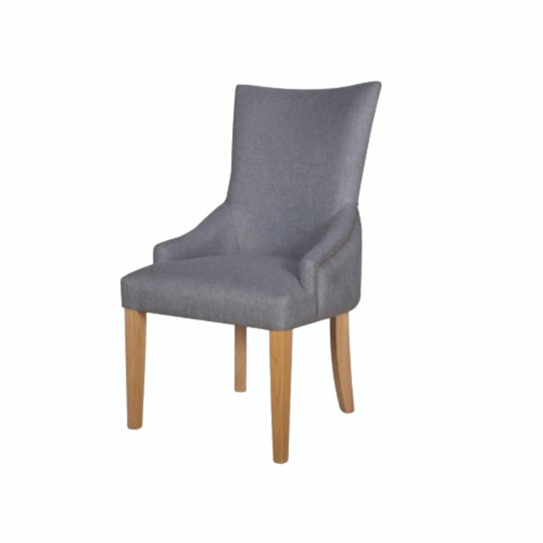Charleston Dining Chair Grey Fabric image 0