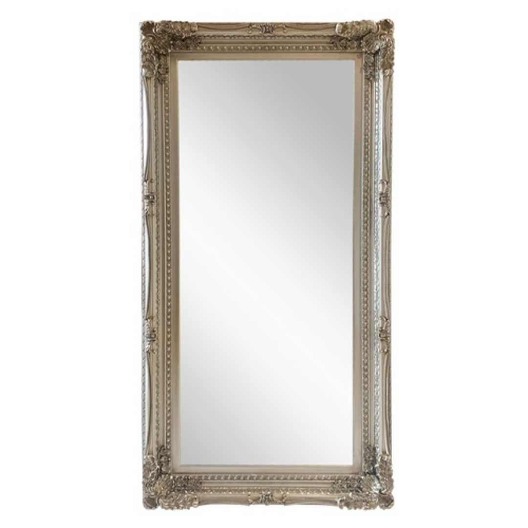 Antique Silver Ornate Mirror Large image 0