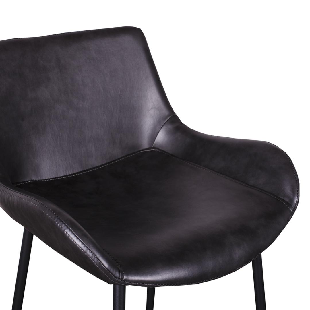 Black PU Barstool image 3