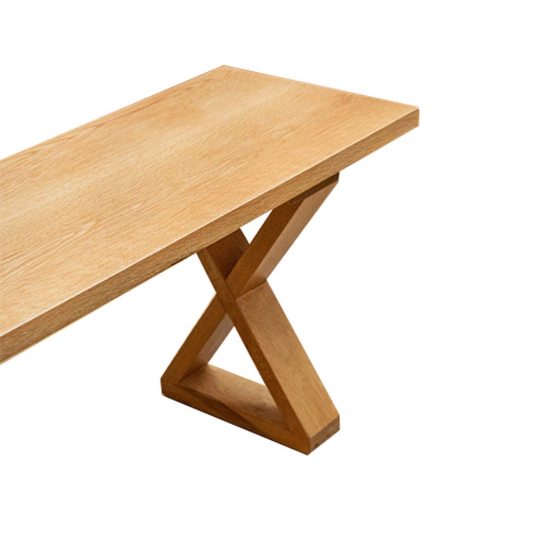 American Oak X-Leg Bench Seat NZ Made image 5