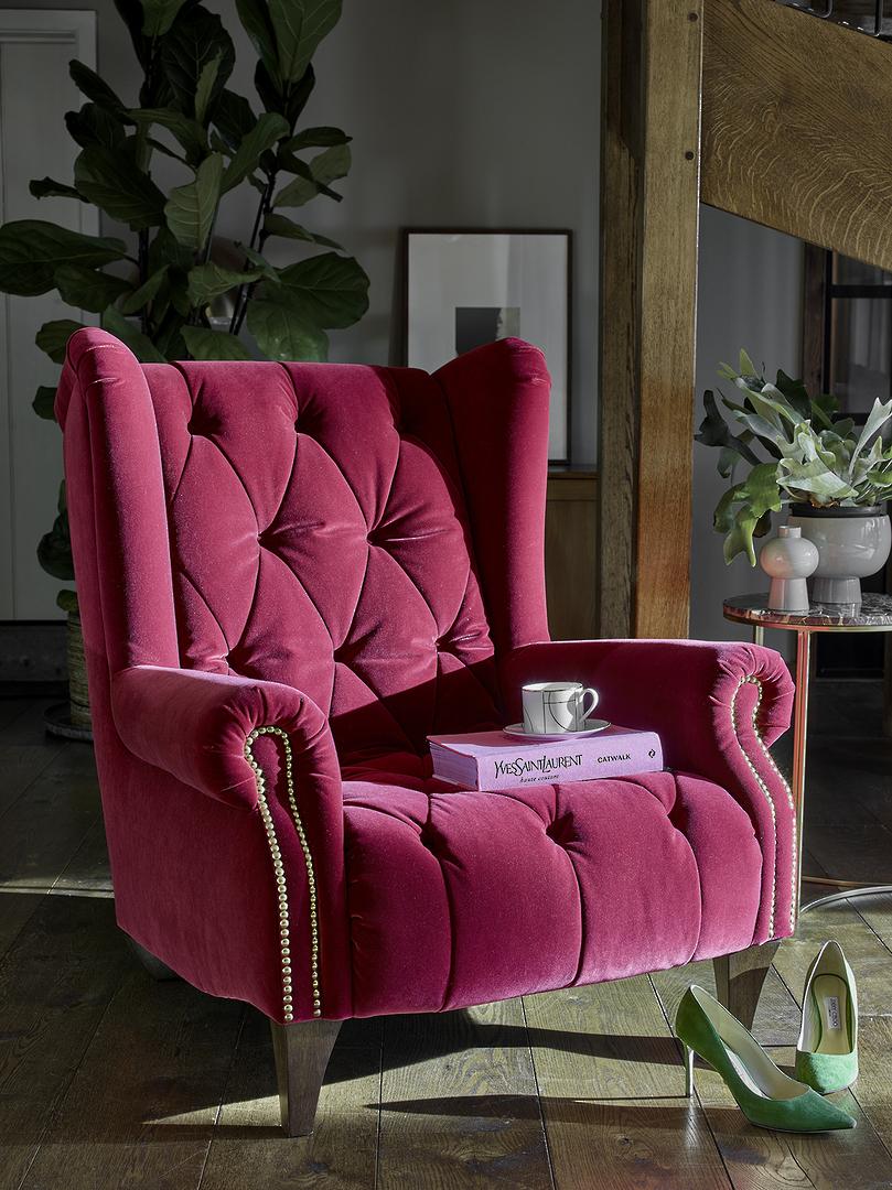 Ossie Velvet Armchair image 2