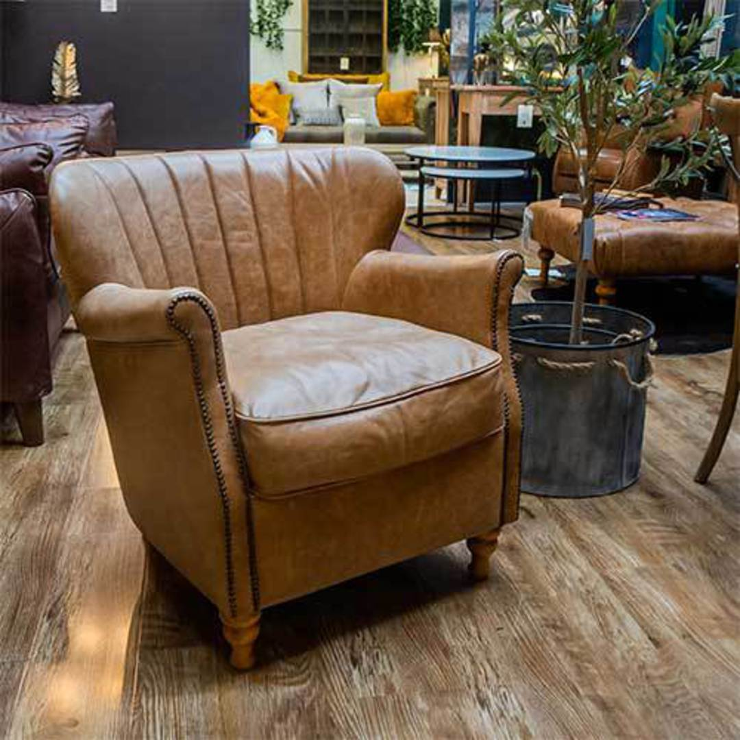 Percy Accent Chair Satchel Latte image 9