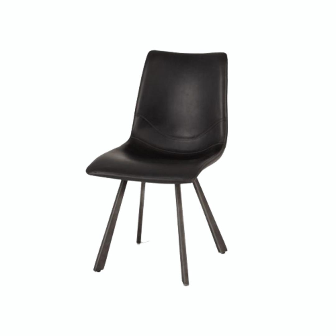 Rustic Chair Vintage Black image 0