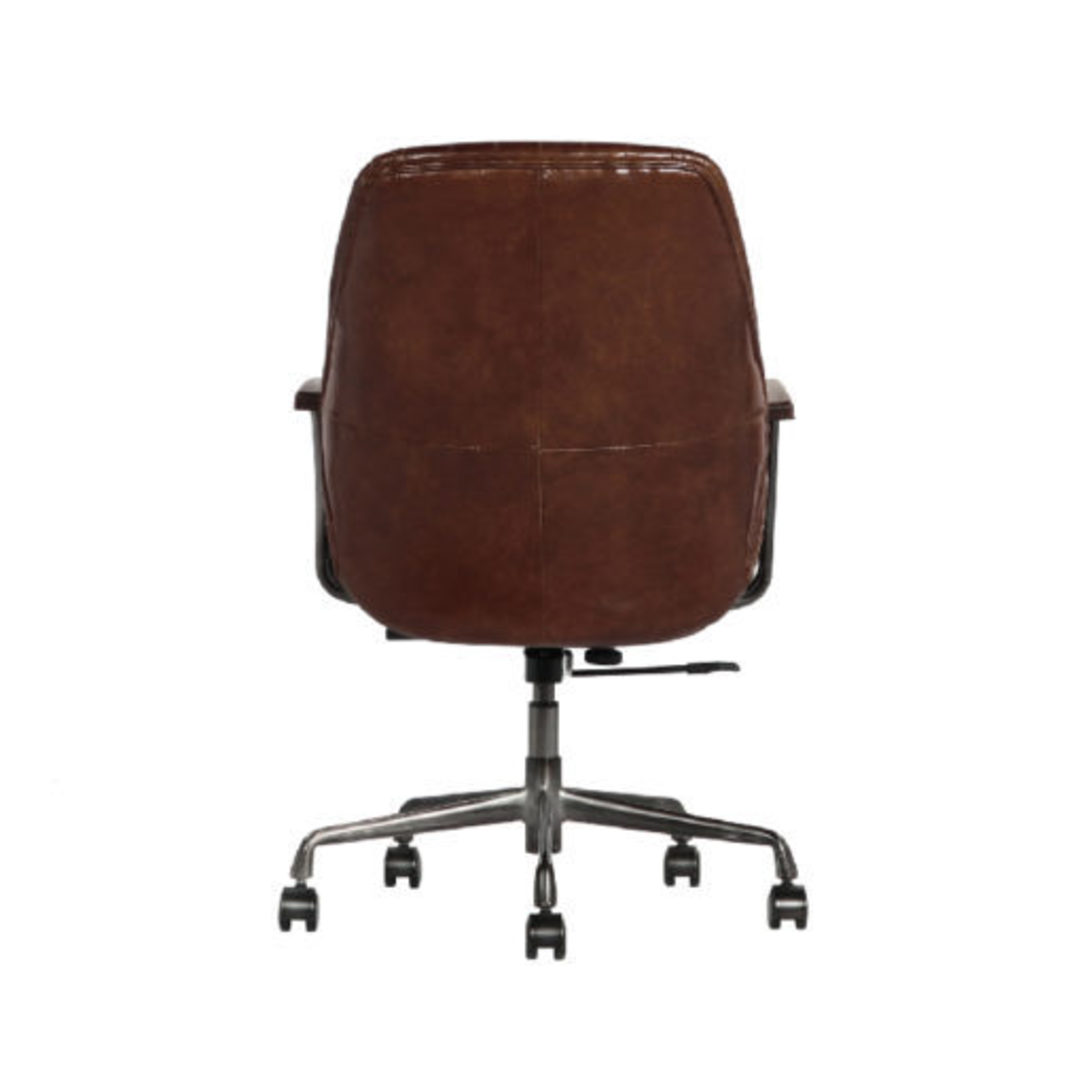 Gloucester Vintage Leather Office Chair Height Adjustable image 4
