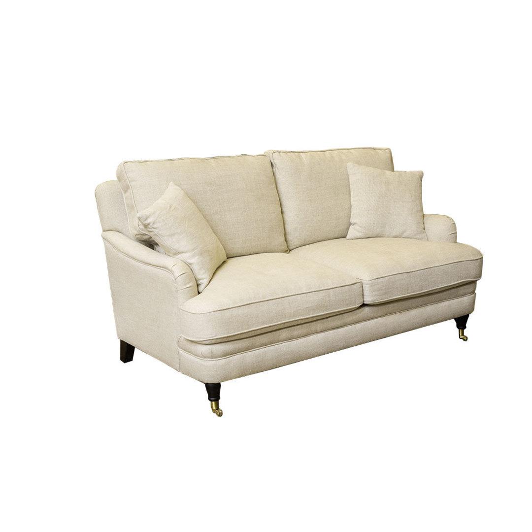 Victoria 2 Seater Sofa Belgium Linen Cream image 1