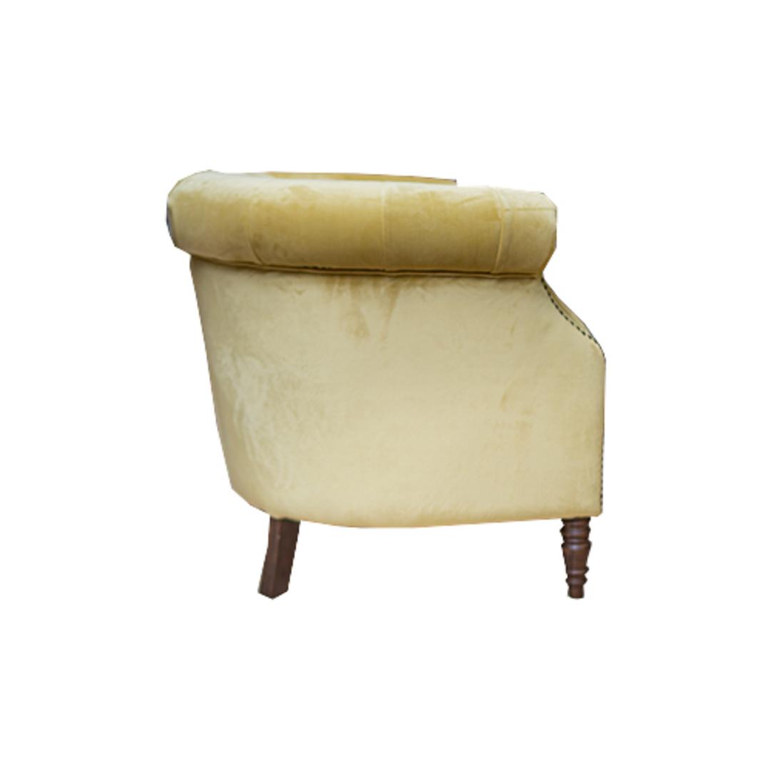 Jude Chair Plush Velvet Yellow image 1