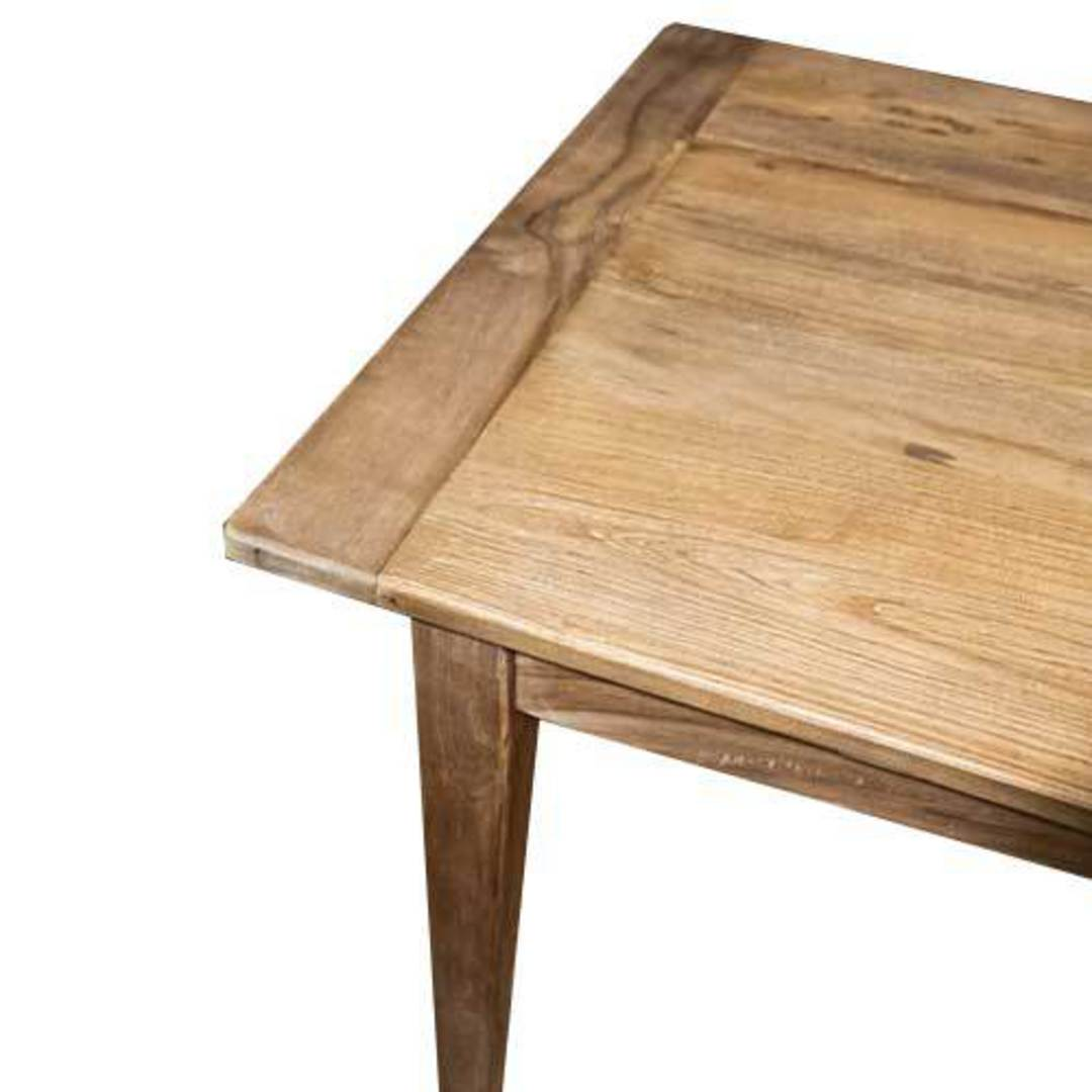 French Dining Table Reclaimed Elm 1.5M image 2