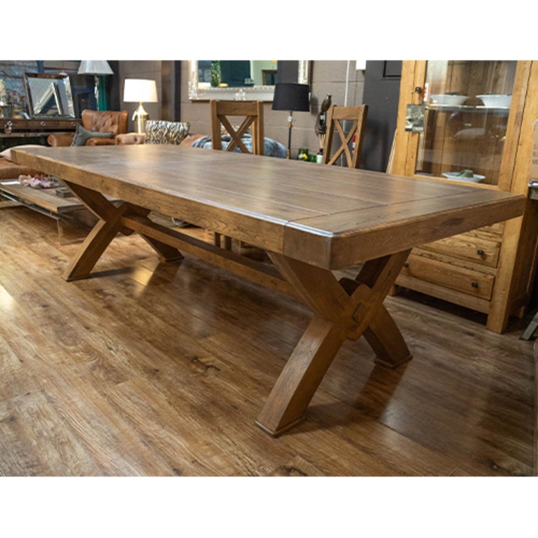 Antique Light Oak Chateau Table 2.4M image 4