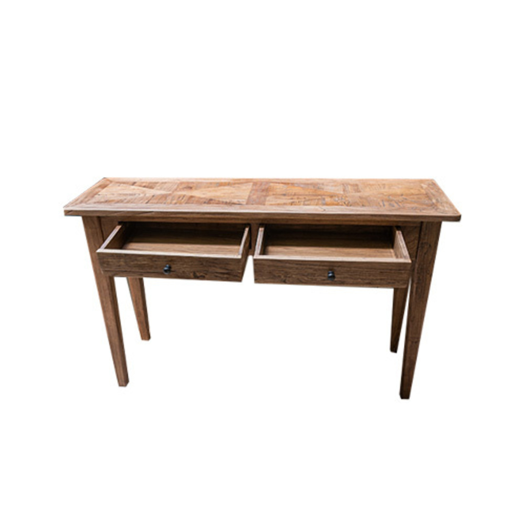 Recycled Elm 2 Drawer Hall Table image 1