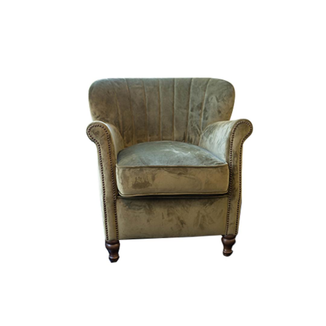 Percy Chair Plush Velvet Green image 0