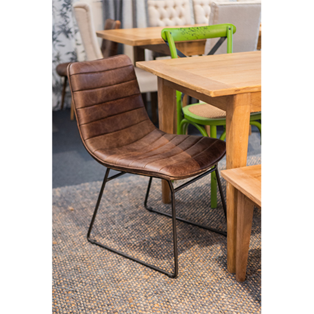 Amalfi Leather Dining Chair image 4