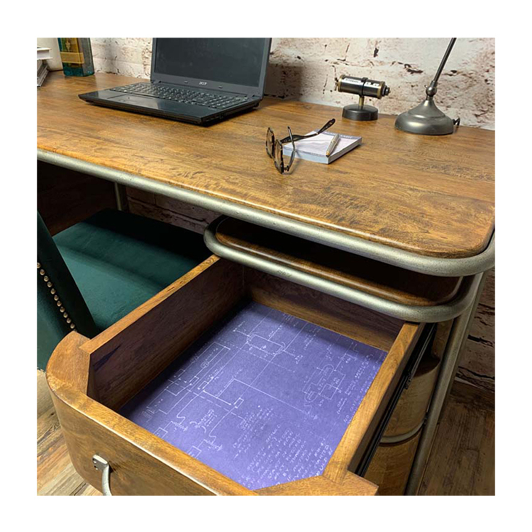 French Art Deco Desk - Rustic image 4