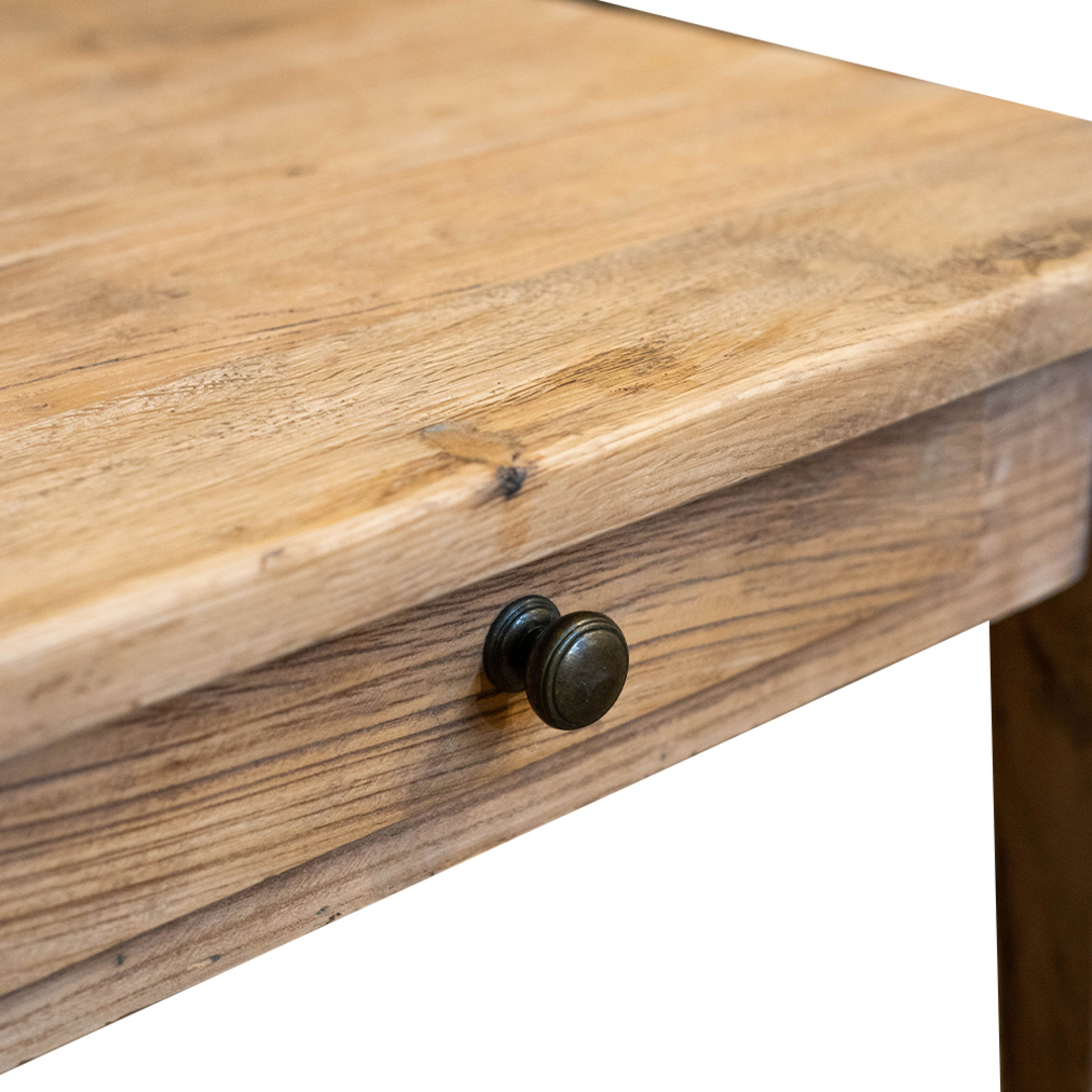 Recycled Elm French 1 Drawer Lamp Table image 3