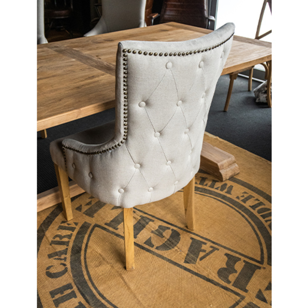 Charleston Dining Chair Natural Linen image 3