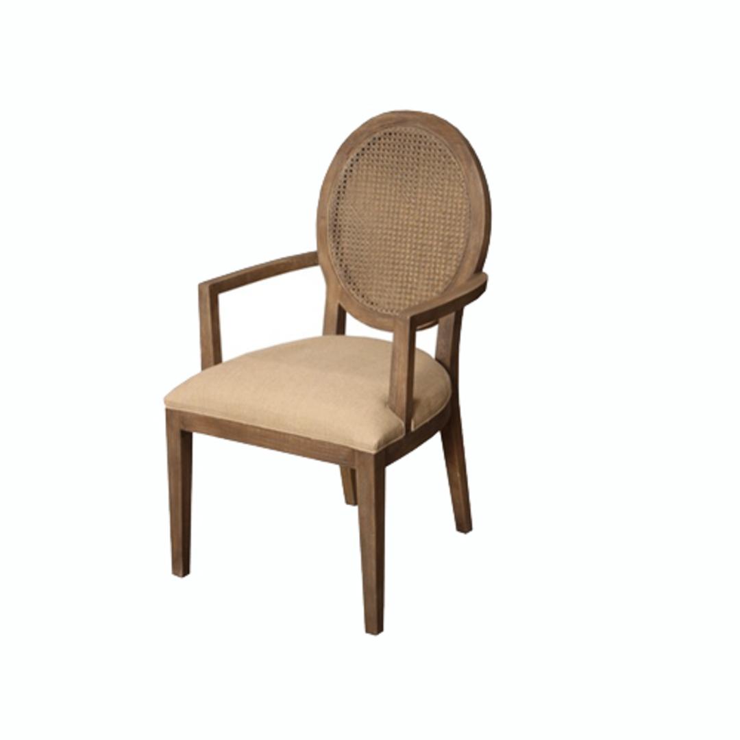 Valdez Rattan Back Carver Chair With American Oak image 0