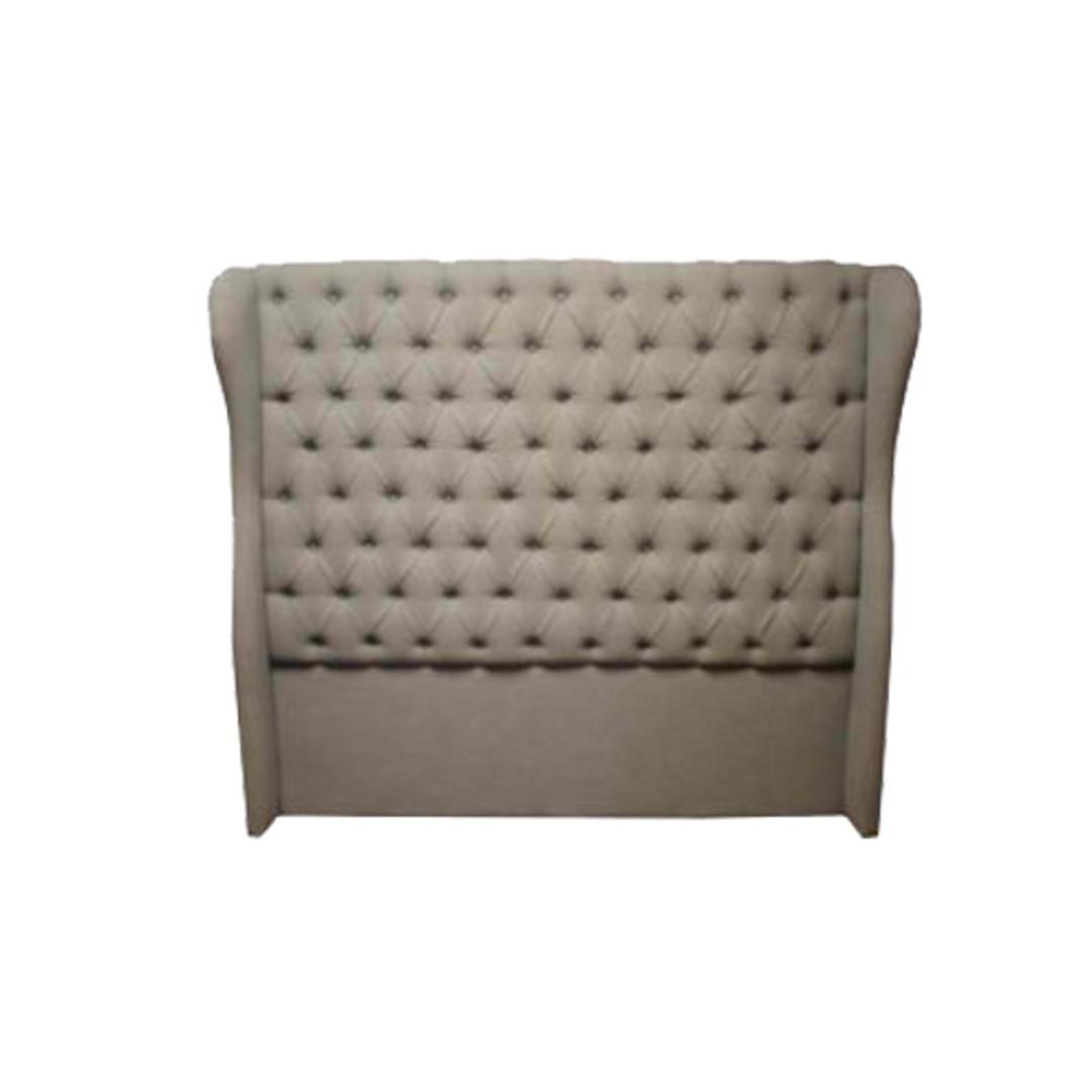 Cambridge Bed Head Queen Grey Linen image 0
