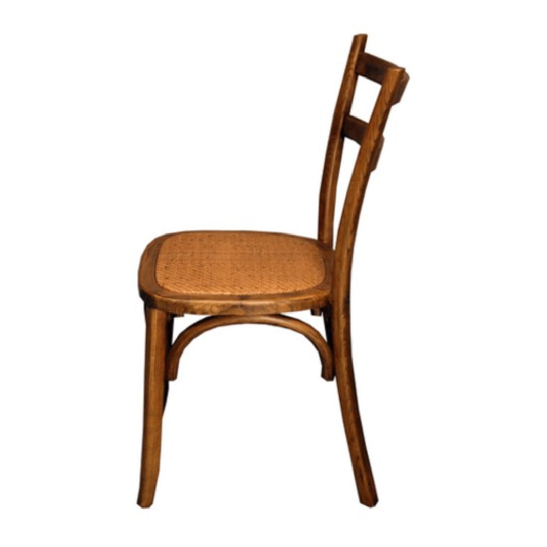 Slat Back Bentwood Dining Chair Antique Oak image 1