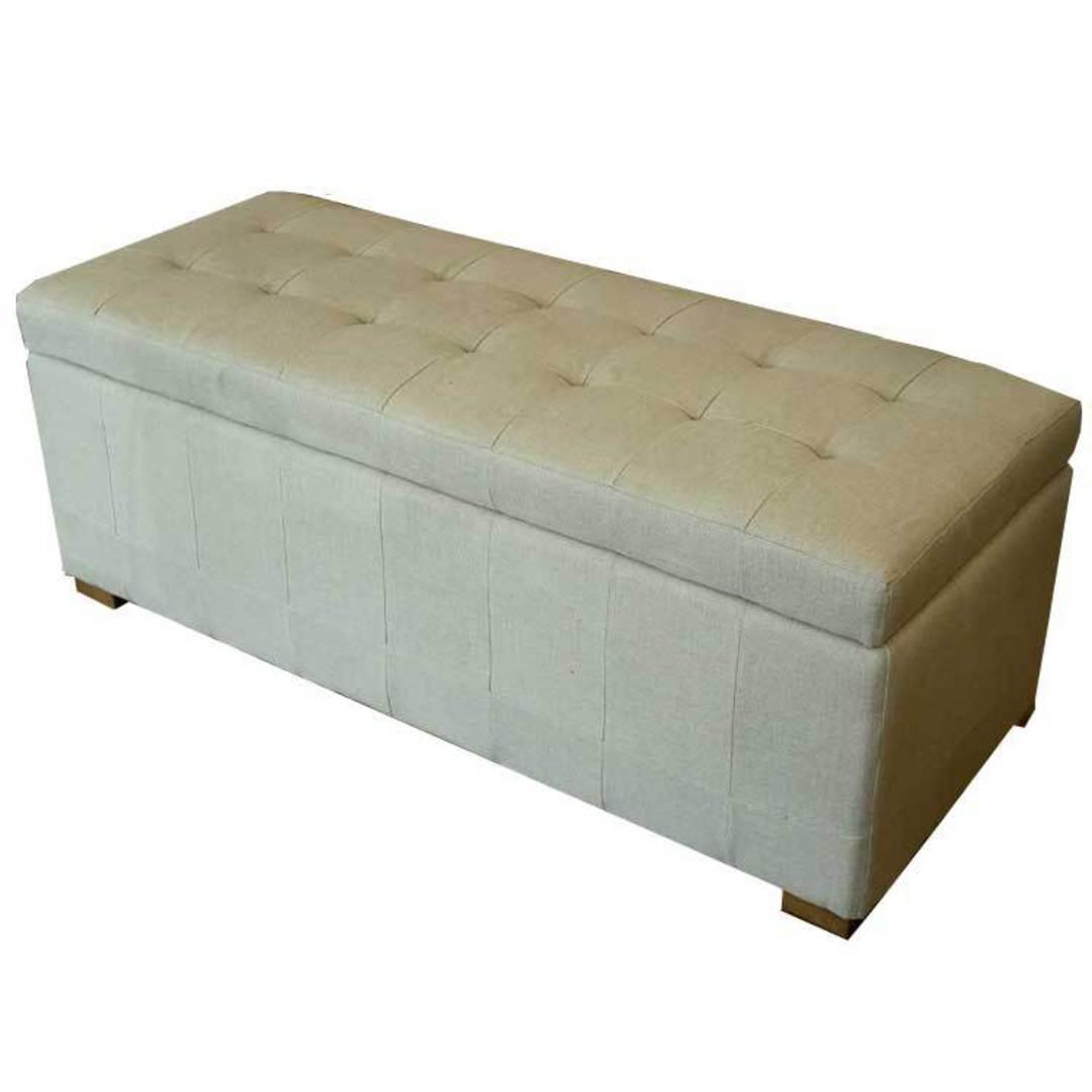 Cuba Linen Ottoman Blanket Box image 4