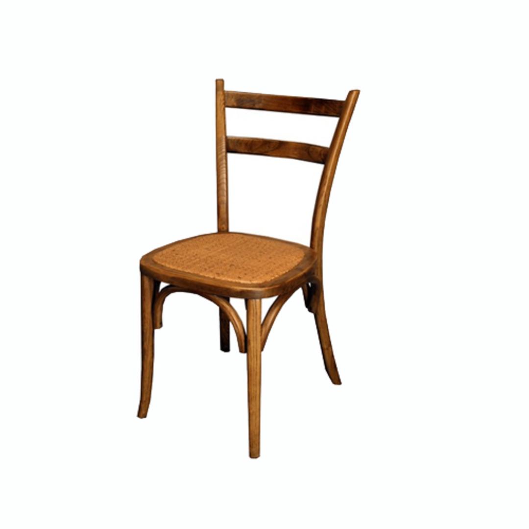 Slat Back Bentwood Dining Chair Antique Oak image 0