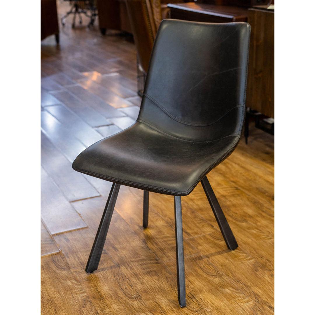 Rustic Chair Vintage Black PU image 5