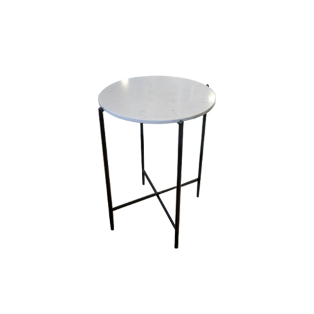 Crete Side Table White Marble image 1