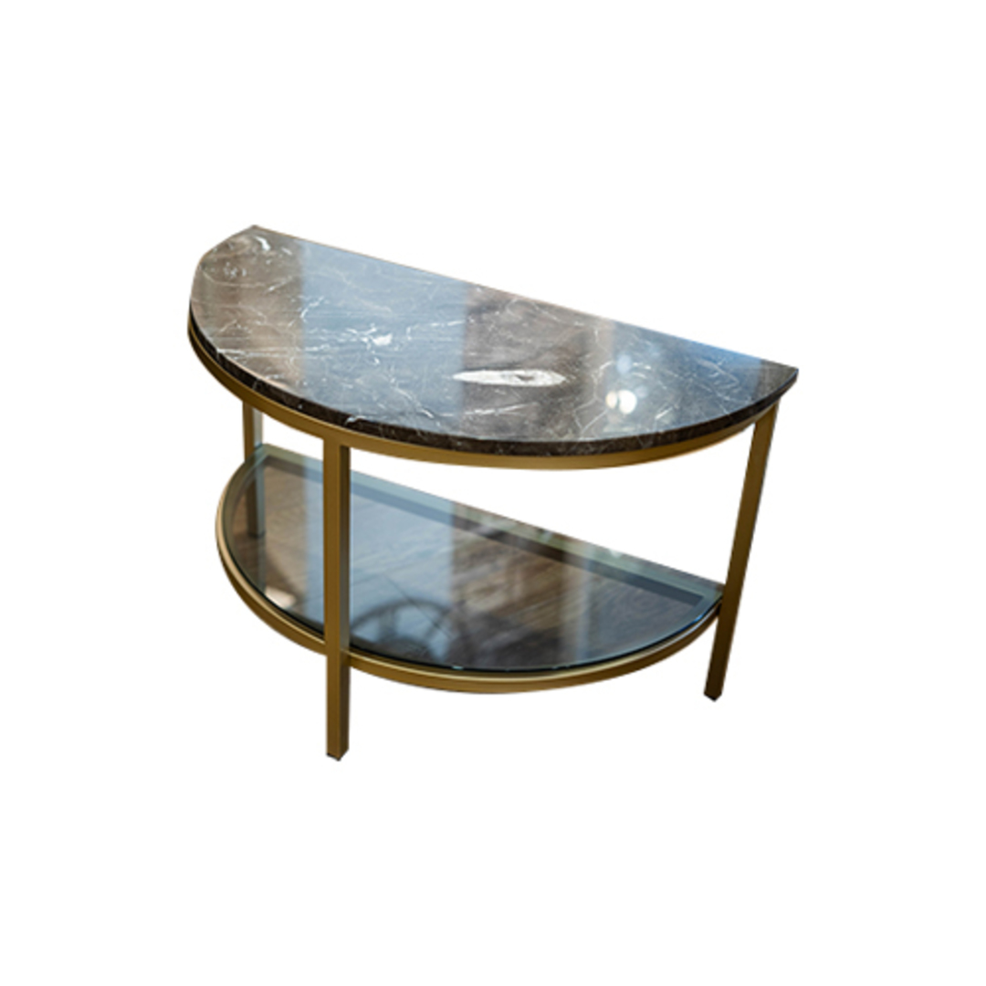 Parkville Arch Brown Marble Table image 1