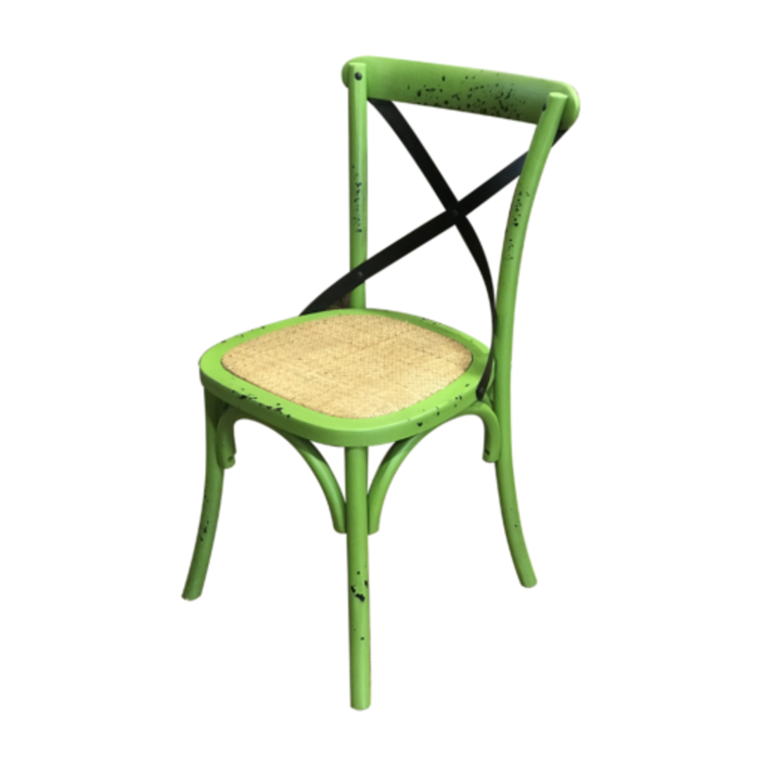 Mantis Antique Green Cross Chair image 1