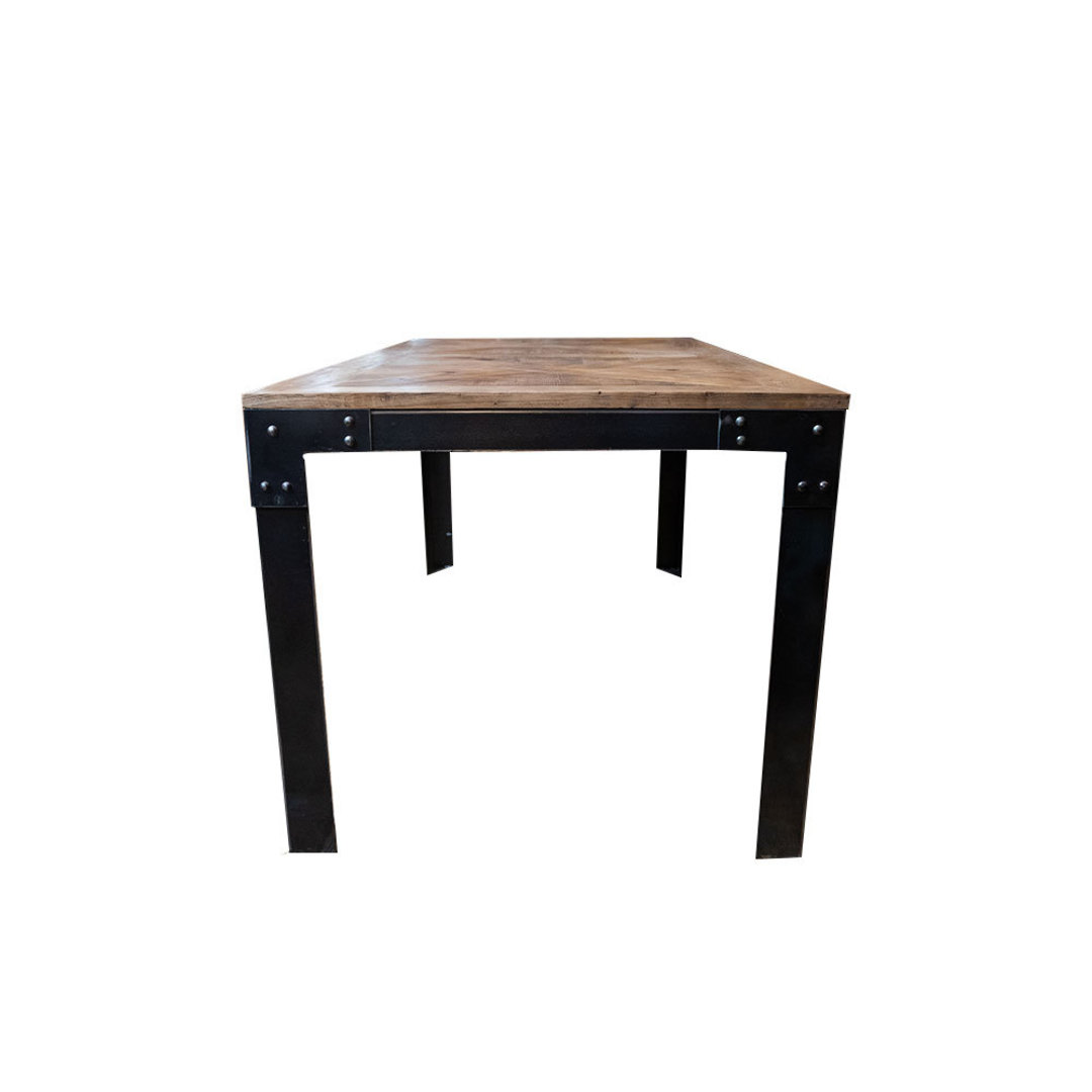 Elm Dining Table Iron Legs 1.6M image 3