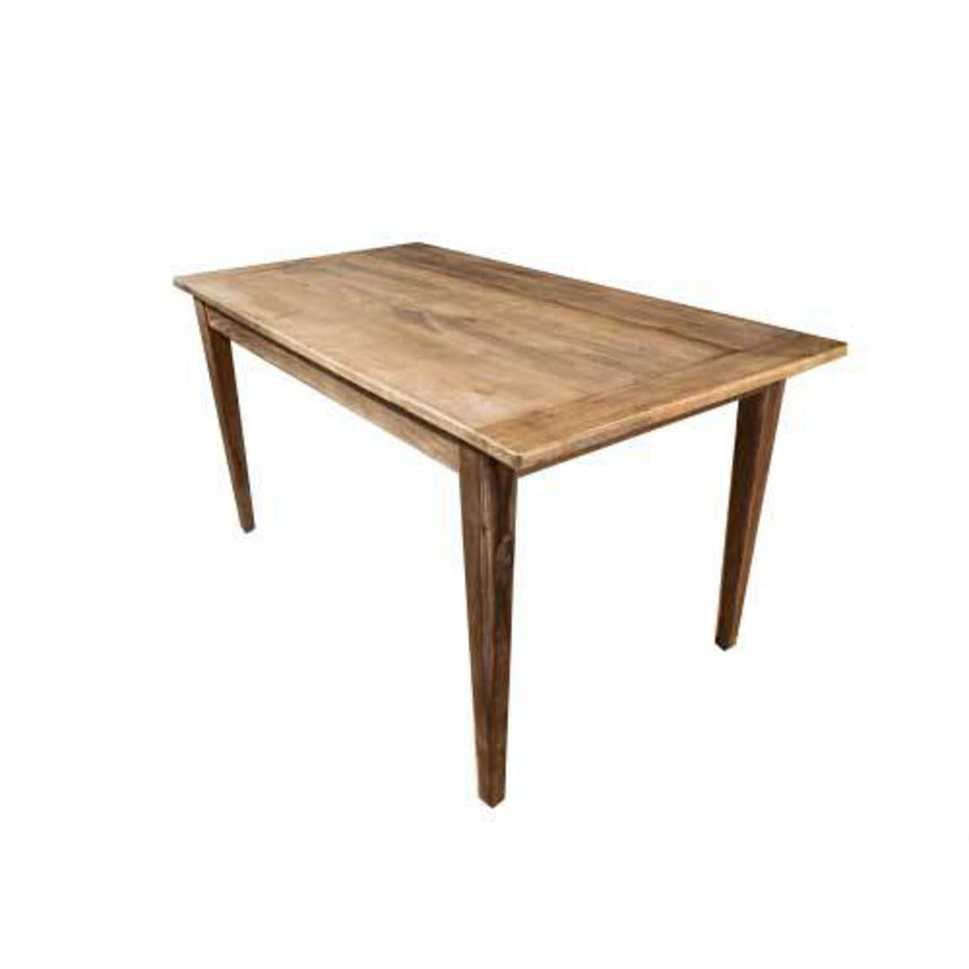 French Dining Table Reclaimed Elm 1.5M image 5