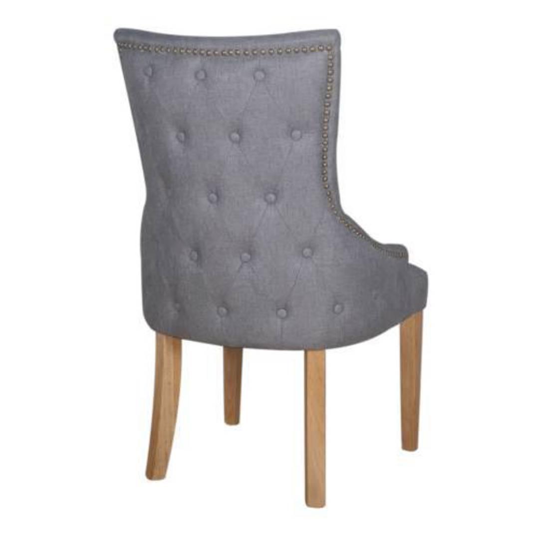 Charleston Dining Chair Grey Fabric image 1
