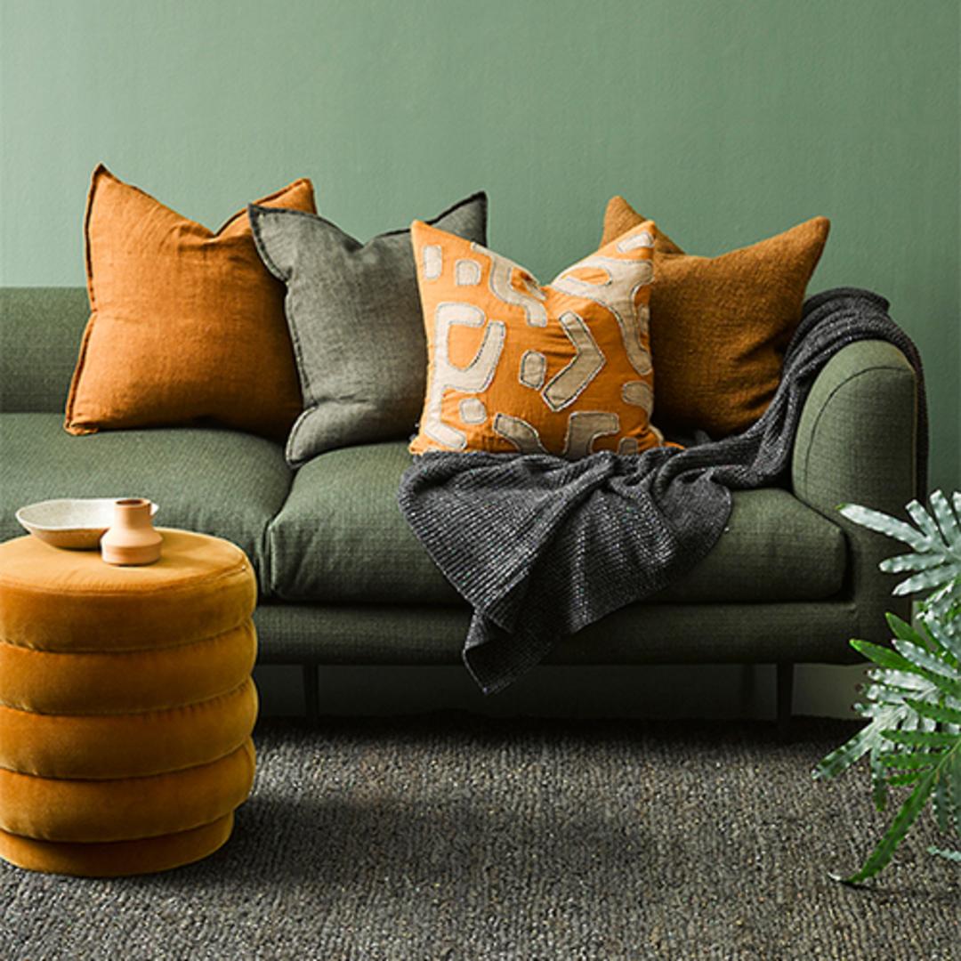 Cassia  Moss Cushion image 1