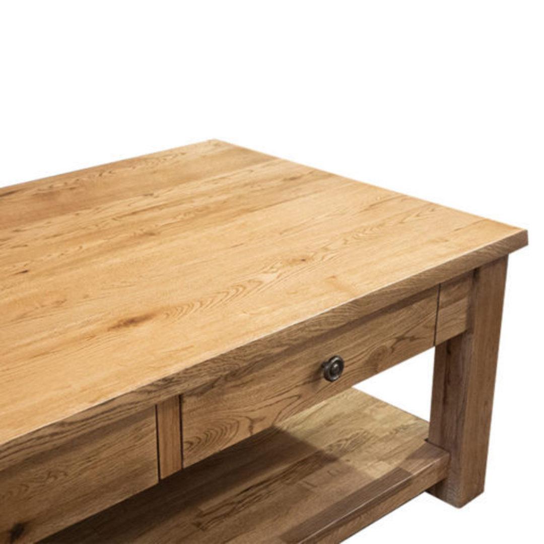 Oak Coffee Table 2 Drawer image 4