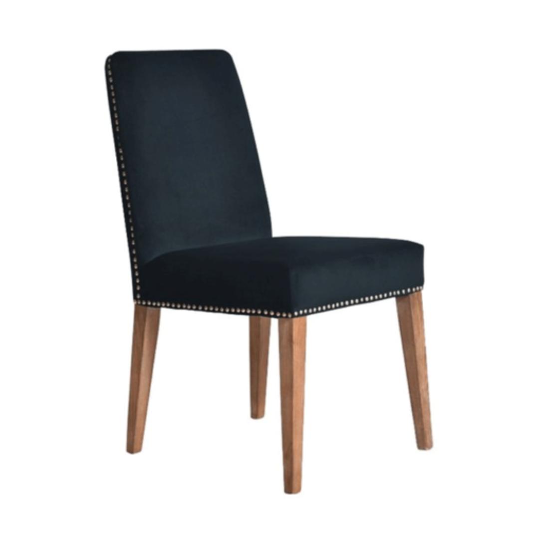 Pascal Dining Chair Navy Blue Velvet image 2